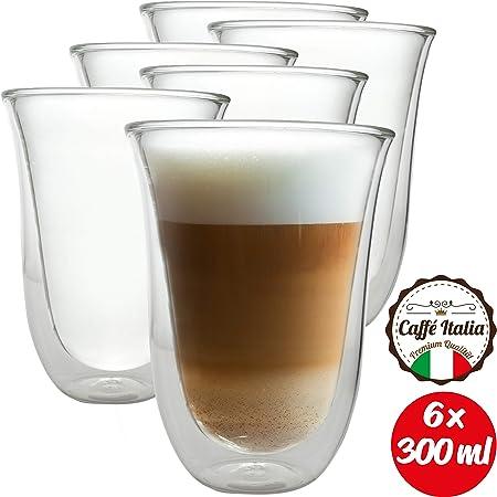 DELONGHI Latte MACCIATO verres 2er set paroie thermoglas