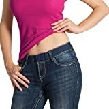 Beltaway Flat Buckle Elastic Women's Belt Adjustable & Invisible Under Clothes DENIM One Size (0-14) Women's Belt DENIM One Size (0-14)