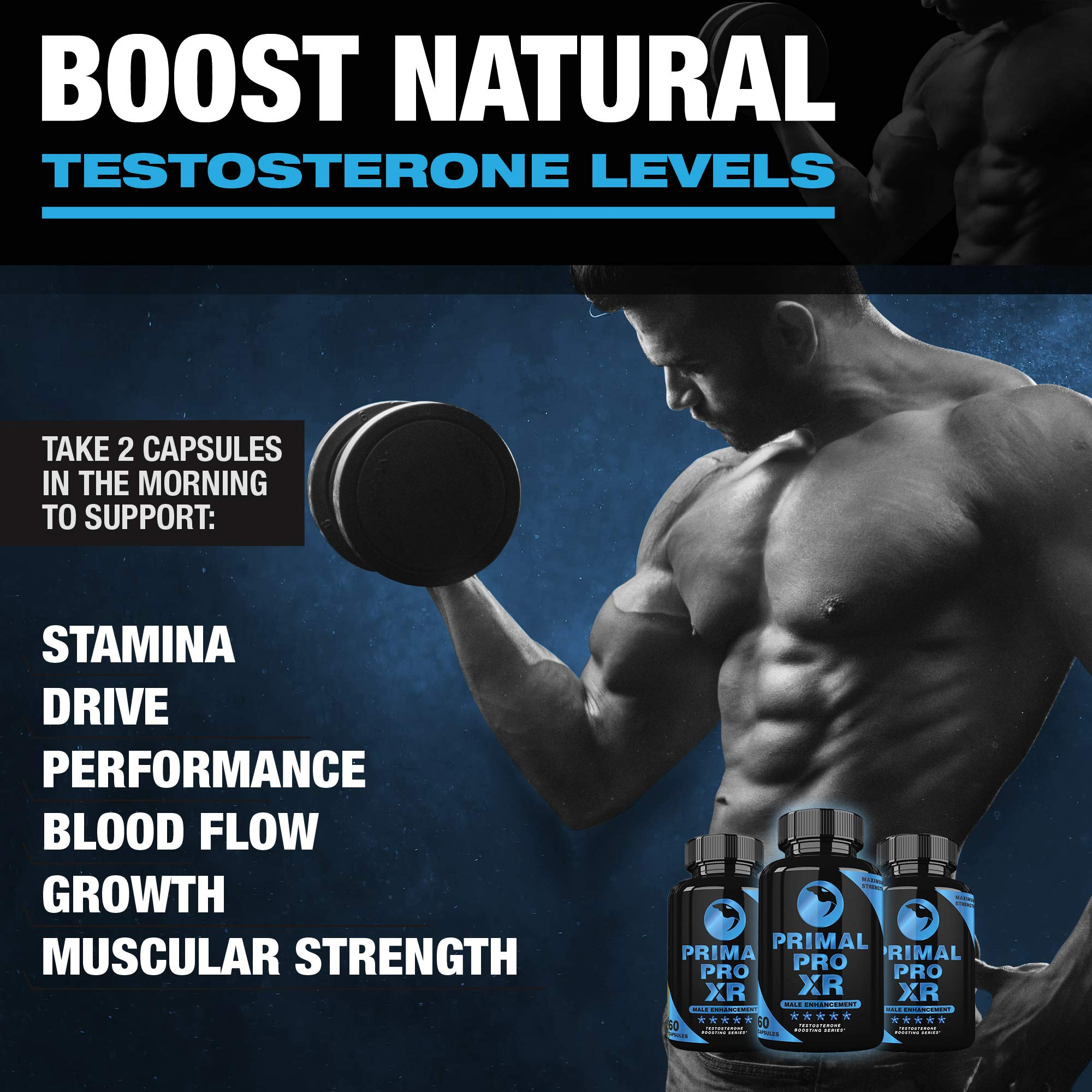 Primal Pro XR - Male Enhancement - Extra Strength Testosterone Booster - Naturally Boost Your Libido, Stamina, Endurance, Strength & Energy for Men & Women - Burn Fat & Build Lean Muscle Mass Today by Primal Pro XR (Image #2)