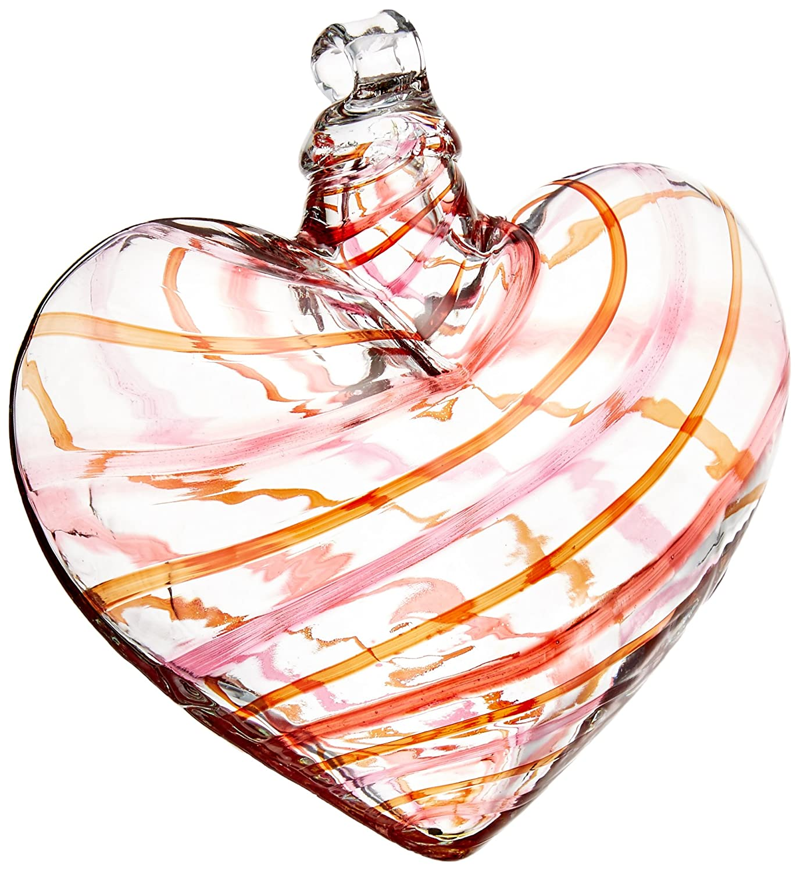 Kitras 3-Inch Heart Celebration Yahoo Kitras Art Glass Inc OR-HECE-03-YH