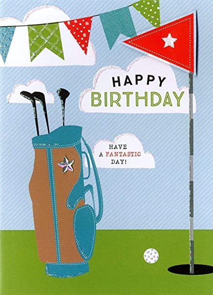 Amazon Happy Birthday Golf Greeting Card Second Nature Yours Truly Cards Office Products