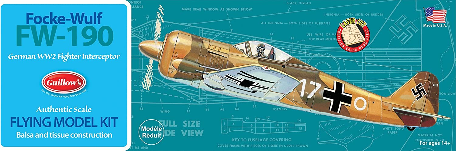 Guillow's Focke-Wulf FW-190 Model Kit