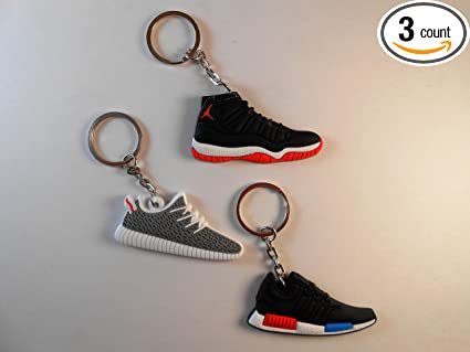 2c694ceadfc Amazon.com  3 Keychains. Lot of 3! Jordan Yeezy NMD Brand New ...