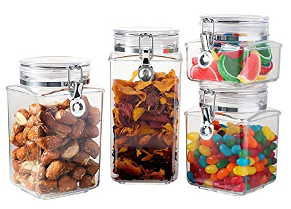 Buy Saganizer Acrylic Food Storage Container with Lid Canister Set