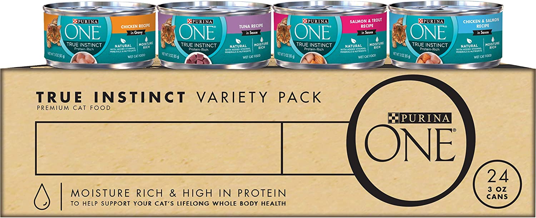 Purina ONE True Instinct Recipes Wet Cat Food - (24) 3 oz. Cans