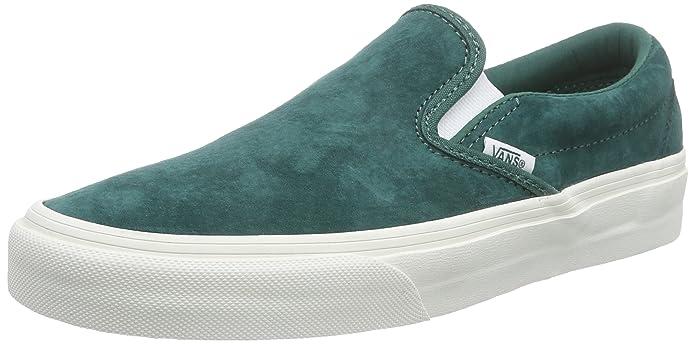 Vans Classic Slip Schuhe Unisex Damen Herren Erwachsene Grün Leder
