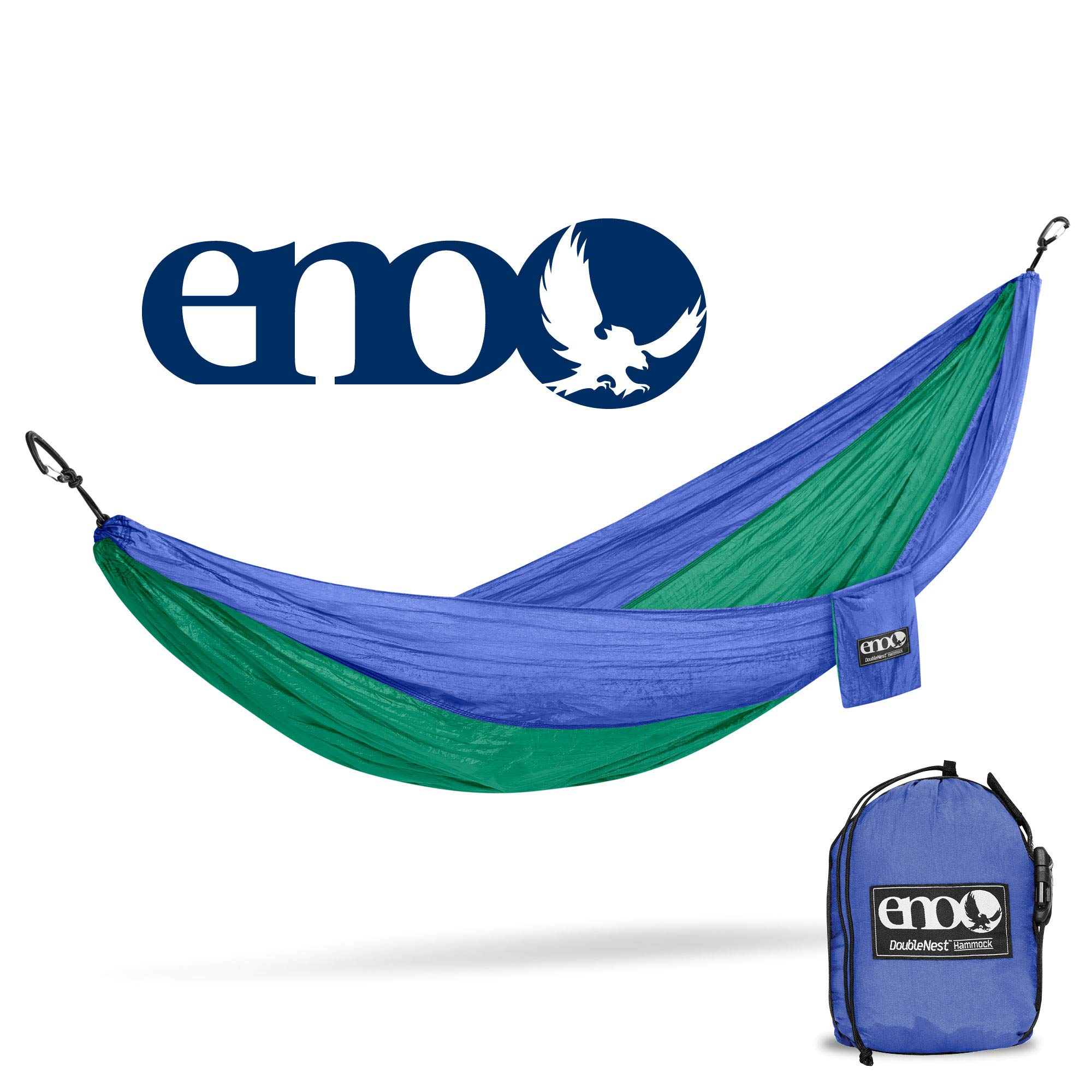 Eagles Nest Outfitters ENO DoubleNest Hammock, Portable Hammock for Two, Royal/Emerald (FFP)