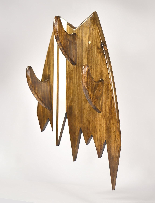 05 Art Deco. Perchero Tabla Surf Madera Tintada Oscura ...