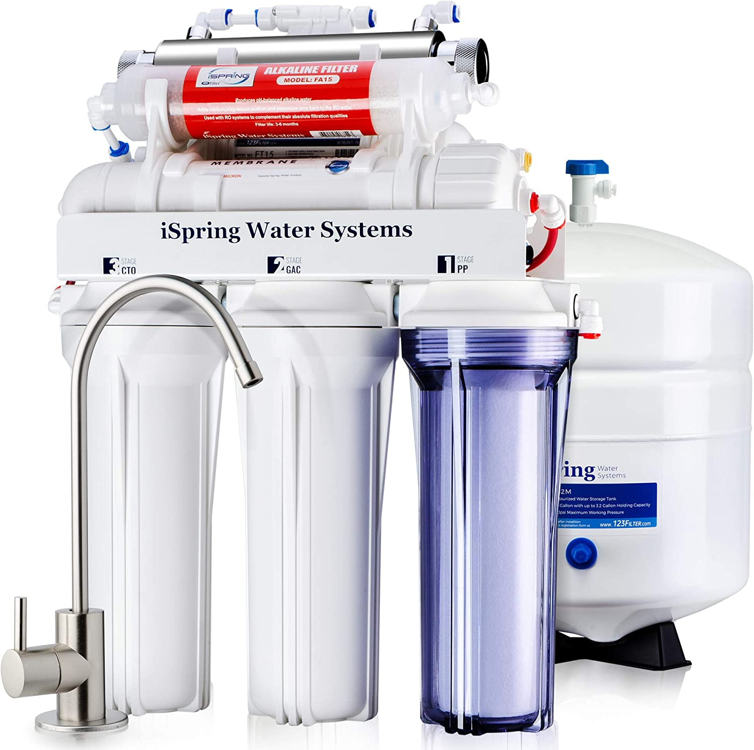 UV Deluxe Under Sink 7-Stage Reverse Osmosis Drinking Water Filtration System