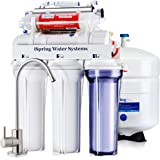 iSpring RCC7AK-UV Deluxe Under Sink 7-Stage Reverse Osmosis Drinking Water Filtration System with Alkaline Remineralization and UV Sterilizer