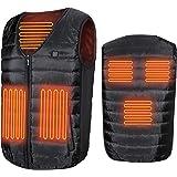 電熱ベスト USB充電式 電熱ウェア 保温 防寒 加熱服 男女兼用 5加熱シート 水洗い可能 加熱ジャケット