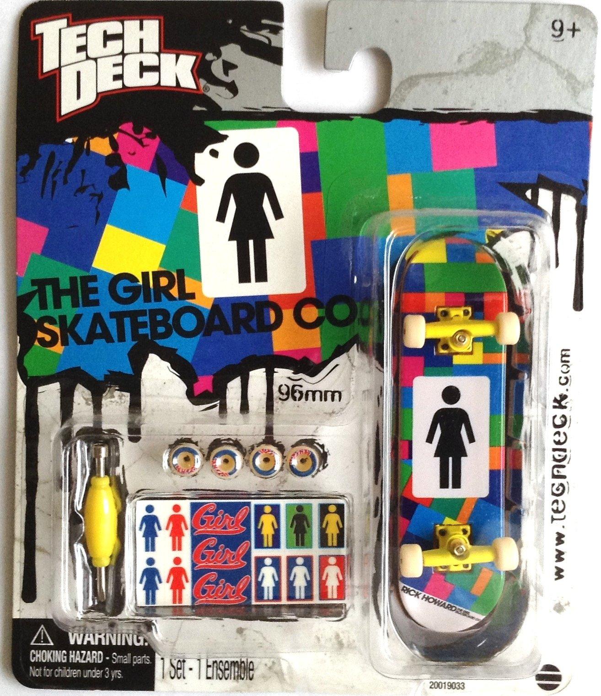 Tech Deck Girl Rich Howard Yellow Trucks 20019033