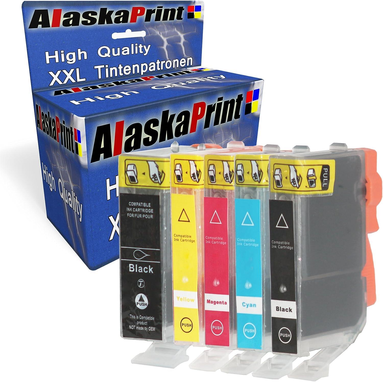Alaskaprint Premium 5er Set Kompatible Druckerpatronen Als Ersatz Für Canon Pgi 520 Xl Cli 521 Xl Multipack Für Canon Pixma Ip4700 Mp540 Mp550 Mp640 Ip3600 Mp560 Mp620 Mp630 Mp638 Mp980 Ip4600 Mx860 Mx870 Mp990 Patronen