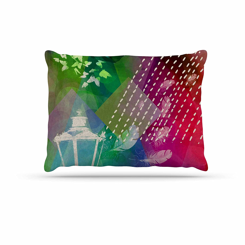Kess InHouse alyZen Moonshadow A GRAND DELUGE (PURPLE)  Music Multicolor Fleece Dog Bed, 30 by 40