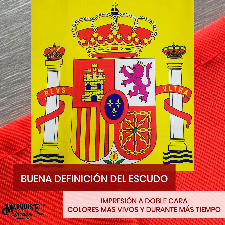 Bandera De España y Española Grande Súper Resistente ✔️ Fabricante Español 💖 Viva España 👆 Si Te Sientes Español 👆 Mira: Amazon.es: Jardín