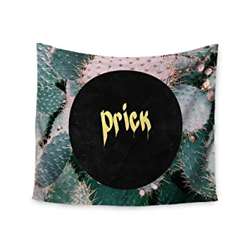 Kess InHouse Chelsea Victoria Prick Typography Green Wall Tapestry 51 x 60