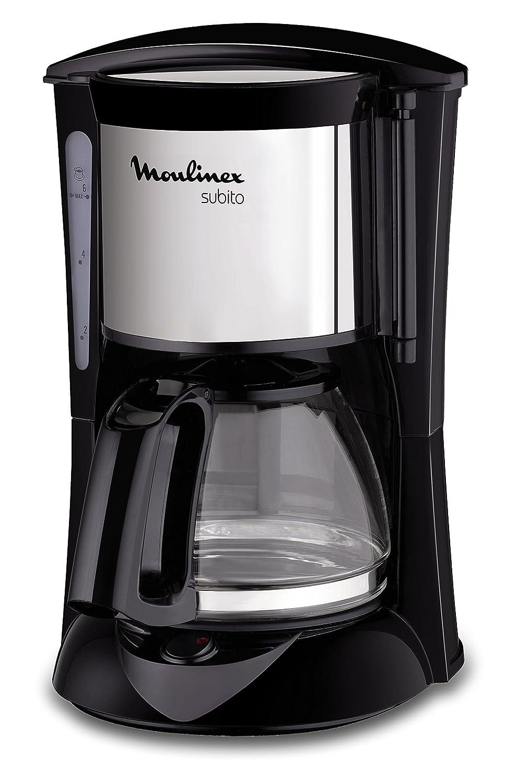 funci/ón Auto-off 650 W 6 tazas Moulinex FG150813 Cafetera de filtro Inox y negro