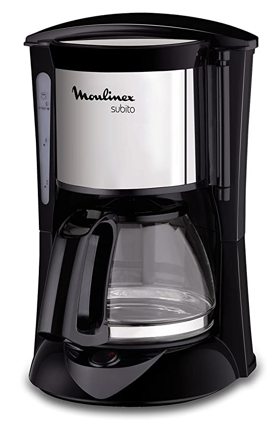 6 opinioni per Moulinex FG150813 Subito- Caffettiera con 6 tazze, colore: Nero/Inox