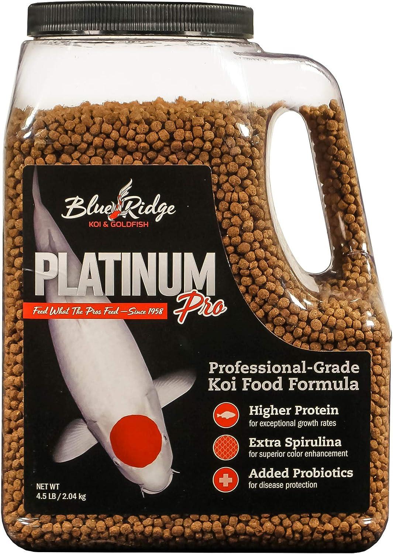 Blue Ridge Fish Food [4.5lb], Platinum Professional Formula 3/16