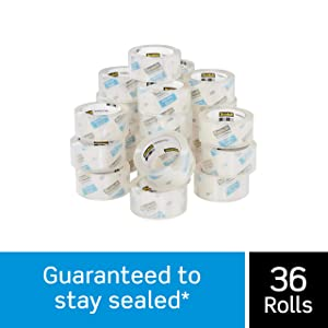 "Scotch Heavy Duty Shipping Packaging Tape, 3"" Core, 1.88"" x 54.6 Yards, 36 Rolls (3850-CS36)"