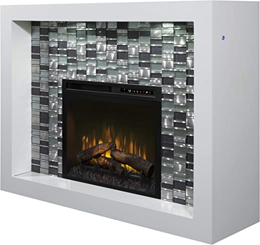 Amazon Com Dimplex Crystal Mantel Electric Fireplace With Logs