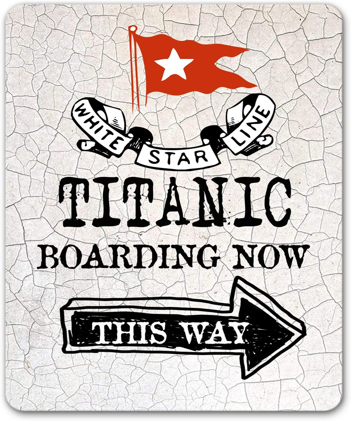 Ol322ay Plaque en m/étal de Style Titanic avec Inscription /« Boarding Now Ship /»