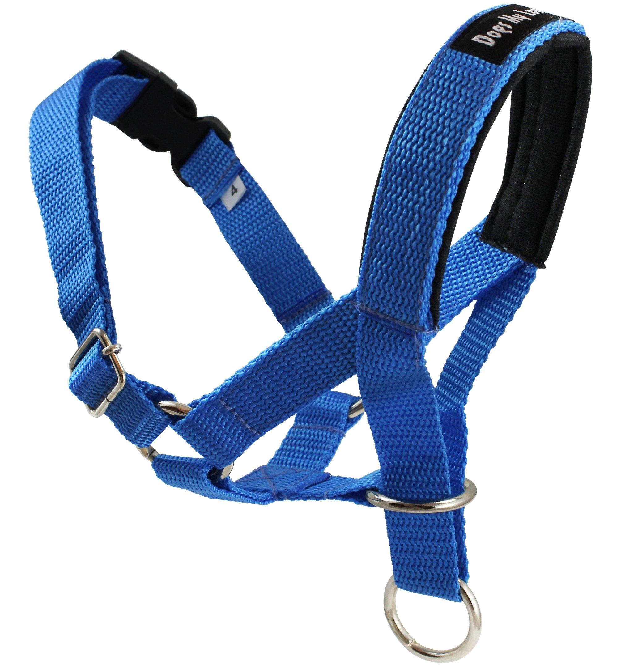 Dog Head Collar Halter Blue 5 Sizes (M: 8.25''-10.25'' Snout)