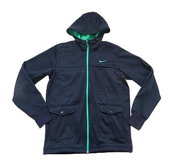 6d9d56ff9bc9 Nike pour Homme AD Hybrid Polar Veste Polaire 507930 473 Medium Bleu Marine  à Capuche Athletic