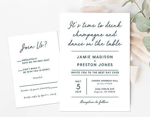Amazon Com Funny Wedding Invitation Unique Wedding Invitation Witty Wedding Invitation Handmade