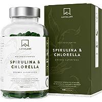 Spirulina Chlorella Kapseln [ 1800 mg ] 180 Stück von Aava Labs - Eine Mischung von hochwertigen Pflanzeninhaltsstoffen aus dichten blauen Algen - 100% vegan und glutenfrei - In Europa hergestellt.