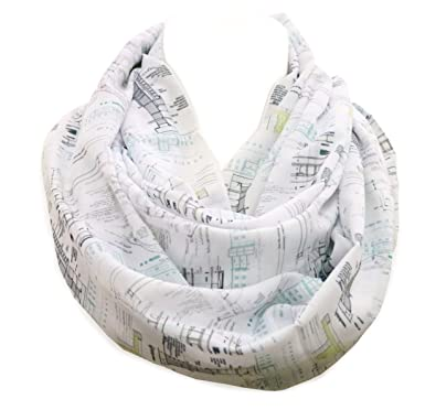Architectural infinity Scarf Gift idea for architects construction interior  designer architectural birthday gift for her shawl