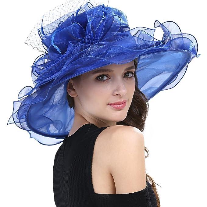 Janey Rubbbins S1706 - Sombrero Ancho para Mujer 432498dfdf8