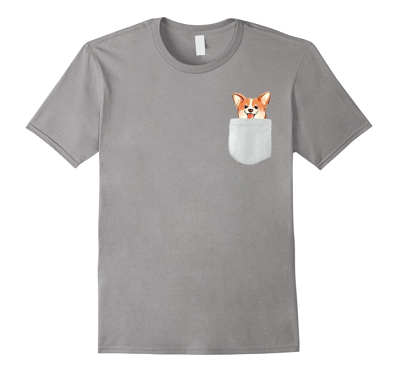 Welsh Corgi Tee with Pocket Detail for Men Women Children-ah my shirt one gift