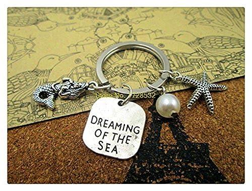 Amazon.com: Mermaid Keychain, sirena, Dreaming del Mar de ...