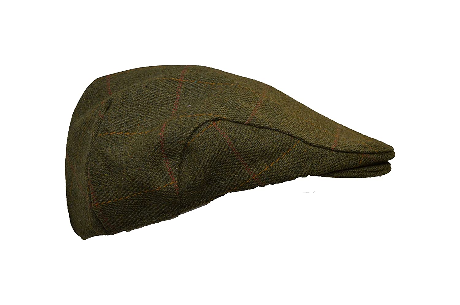 71538ffc305 Walker   Hawkes - Uni-Sex Derby Tweed Flat Cap Hunting Shooting Countrywear  Hat - Dark Sage  Amazon.co.uk  Clothing