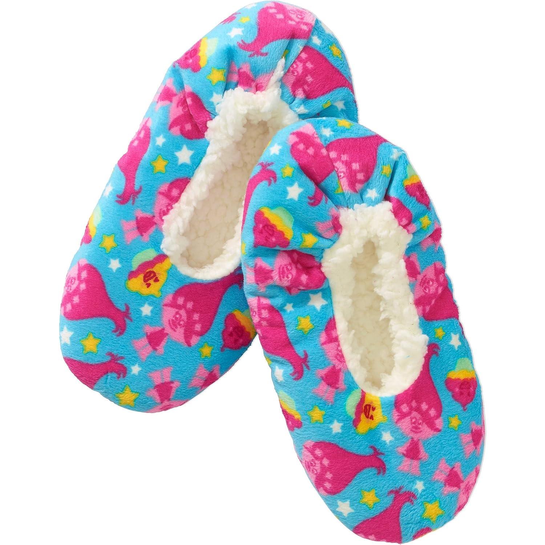 Girls Slipper Socks with Trolls detail