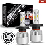 LED Bulbs, AKD Part CREE H4 LED Headlights Conversion Kit Super Bright With 6000K Cool White 150W 15,000 Lumens, 1 Year Warranty