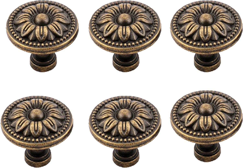 Cabinet Replacement Knob Floral Design Large Flower Bronze Metal Knob Cast Iron Flower Knob Metal Dresser Drawer Pulls Knobs and Pulls