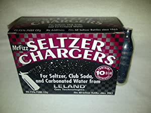 30 Leland (LE10 CO2) CO2 soda chargers - 8g C02 seltzer water cartridges - 3 boxes of 10