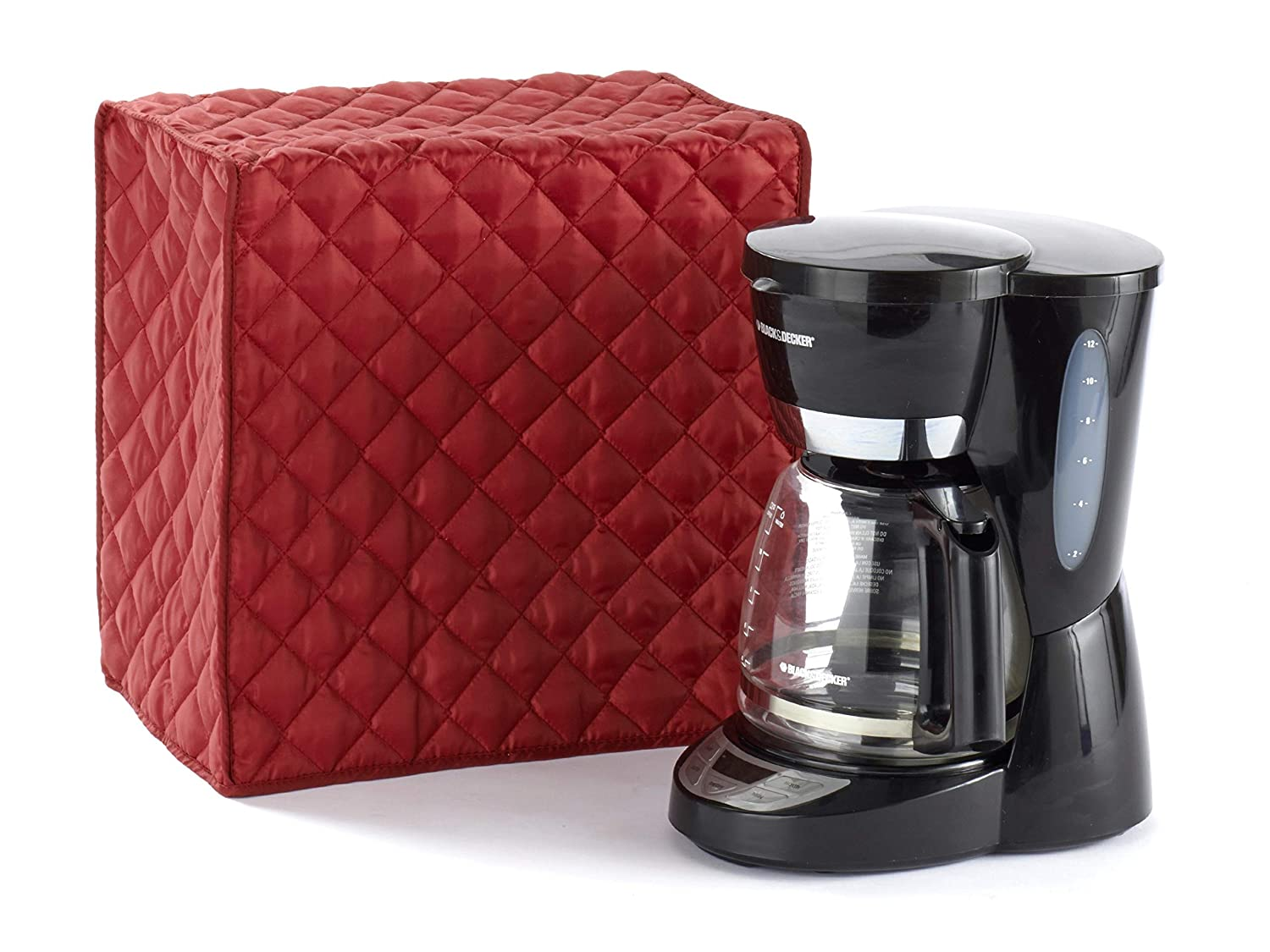 Covermates – Coffee Maker Cover – 11W x 9D x 15H – Diamond Collection – 2 YR Warranty – Year Around Protection - Red