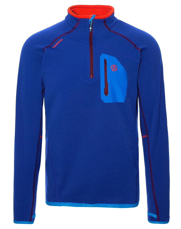 Ternua ® Kratu 1/2 Zip M Camiseta, Camiseta, Camiseta, Hombre, Azul (Clematis Azul), S 7f05a3