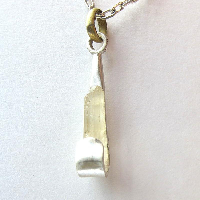 Colgante de Plata con Mineral Natural: Amazon.es: Handmade
