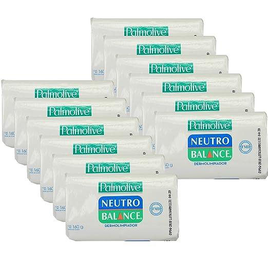 Palmolive Naturals Soap Neutro Balance Dermolimpiador 150 g, 12 Bars Total