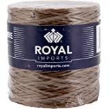Brown Floral Bind Wire Wrap, Paper Covered Waterproof Rustic Vine for Flower Bouquets 26 Gauge (673 Ft) by Royal Imports