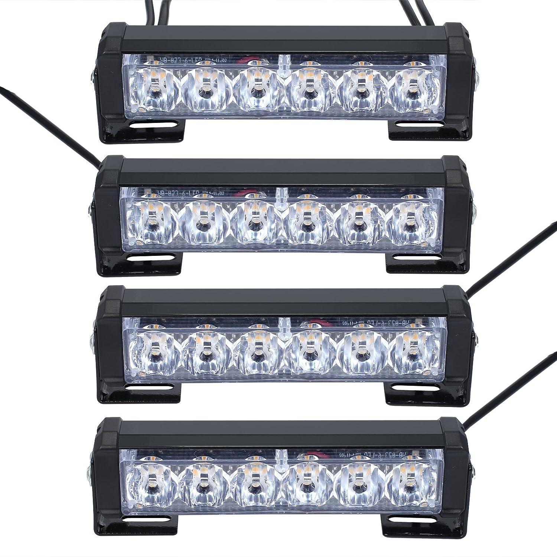 Justech Stroboskoplicht Bernstein Hazard Warnung Beacon Mit KFZ-Ladeger/ät Notfall Lichtern Achtung Blinklicht