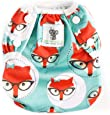 Swimming Nappies - Stylish Swim Nappies Reusable for Baby & Toddler by Sarah-Jane Collection. Eco-Friendly, Washable, Grows with Your Baby - One Size fits All (Green Fox)