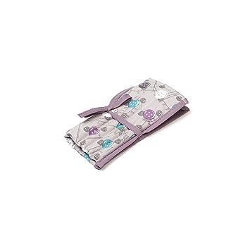 Tasten Muster gefüllt Häkelnadel Rolle Krawatte Fall lila und Aqua ...