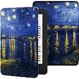 Capa para Kindle 10a geração (aparelho com iluminação embutida) - rígida - sistema de hibernação - Noite Estrelada Sobre o Ró