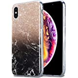 Kit Me Out World Marble Series Case Designed for iPhone Xs Case, TPU Thin Minimal Slim Fit Durable Shockproof Protection…