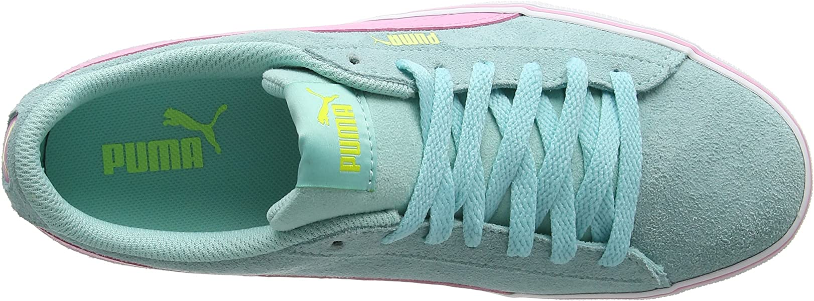 c39ae73acaa Puma Unisex Kids 1948 Vulc Jr Low-Top Sneakers Aruba Blue-Prism Pink 10.  Back. Double-tap to zoom